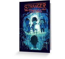 stranger things. Greeting Card