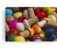 bottle caps Canvas Print
