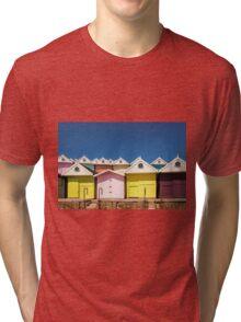 Beach Huts Tri-blend T-Shirt