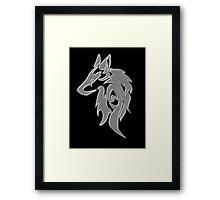 Wolfpack Silver Framed Print
