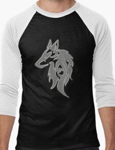 Wolfpack Silver Men's Baseball ¾ T-Shirt