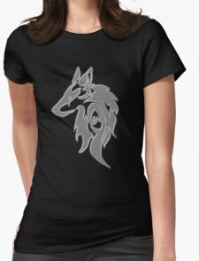 Wolfpack Silver Womens Fitted T-Shirt