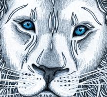 Blue Eyed Lion Sticker