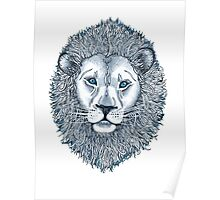 Blue Eyed Lion Poster