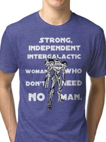 Independent Intergalactic Woman Tri-blend T-Shirt