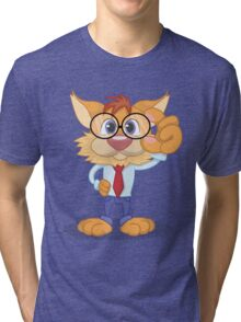 Smart Cat Tri-blend T-Shirt