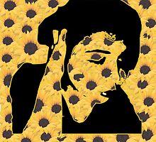 Sunflower Self Portrait by darthzosima