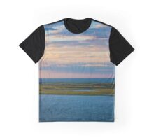 View On Shinnecock Bay And Atlantic Ocean | Hampton Bays, New York Graphic T-Shirt
