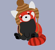 Collin the Beanie-Wearing Red Panda by An0nym0use