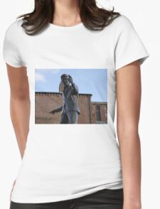 Billy Fury Statue Liverpool. Womens Fitted T-Shirt