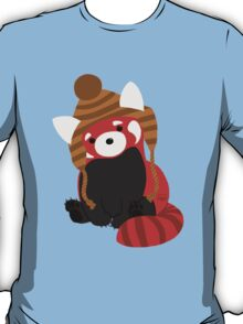 Collin the Beanie-Wearing Red Panda T-Shirt