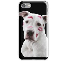 Pit Bull Pink Kisses iPhone Case/Skin
