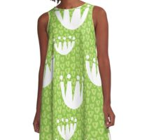 Tulip Triangle (Green) A-Line Dress