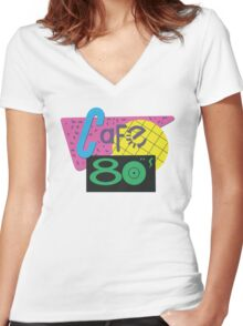 Cafe 80s – Back To The Future II, Marty McFly, Pepsi Perfect Women's Fitted V-Neck T-Shirt