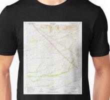 USGS TOPO Map Arizona AZ Superstition Mts SW 313616 1956 24000 Unisex T-Shirt