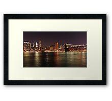 New York City from Brooklyn Framed Print