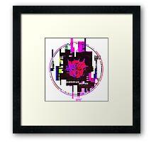 Double Badge Glitch (v.1) Framed Print