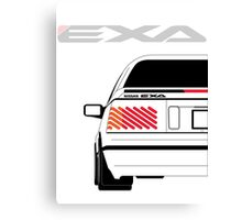 Nissan Exa Coupe - White Canvas Print