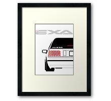Nissan Exa Sportback - White Framed Print