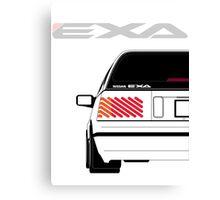 Nissan Exa Sportback - White Canvas Print