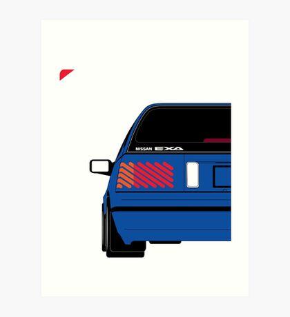 Nissan Exa Sportback - JAP Edition Blue Art Print