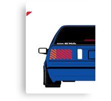 Nissan Exa Sportback - JAP Edition Blue Canvas Print