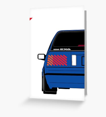 Nissan Exa Sportback - JAP Edition Blue Greeting Card