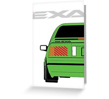 Nissan Exa Coupe - Green Greeting Card