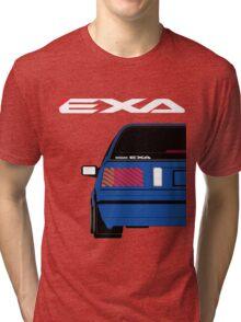 Nissan Exa Sportback - JAP Edition Blue Tri-blend T-Shirt