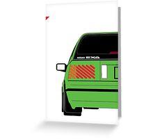 Nissan Exa Sportback - Greeb Greeting Card