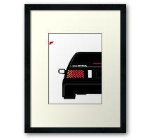 Nissan Exa Sportback - Black Framed Print