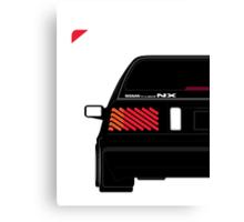 Nissan NX Pulsar Sportback - Black Canvas Print