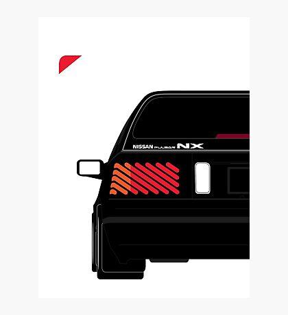 Nissan NX Pulsar Sportback - Black Photographic Print