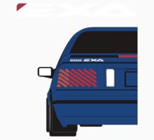 Nissan Exa Coupe - JAP Edition Blue One Piece - Short Sleeve