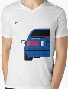 Nissan Exa Coupe - JAP Edition Blue Mens V-Neck T-Shirt