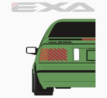 Nissan Exa Coupe - Green by SEZGFX