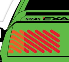 Nissan Exa Coupe - Green Sticker