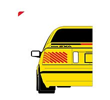 Nissan Exa Coupe - Yellow Photographic Print