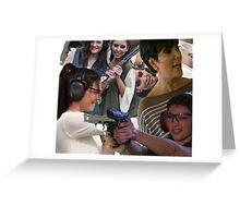 Kardashians with guns: collage  Greeting Card