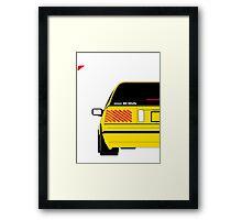 Nissan Exa Sportback - Yellow Framed Print