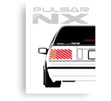Nissan NX Pulsar Sportback - White Canvas Print