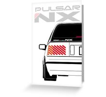 Nissan NX Pulsar Sportback - White Greeting Card