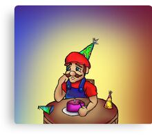 Mario Party of One Canvas Print