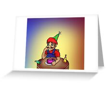 Mario Party of One Greeting Card