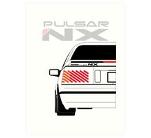 Nissan NX Pulsar Coupe - White Art Print