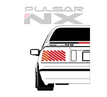 Nissan NX Pulsar Coupe - White Photographic Print