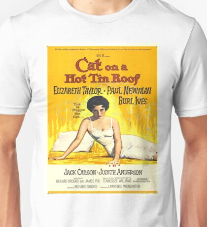 Vintage poster - Cat on a Hot Tin Roof Unisex T-Shirt