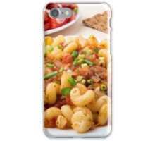 Cooked pasta cavatappi with stewed vegetables sauce iPhone Case/Skin