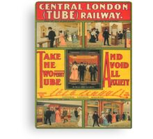 Vintage poster - Central London Railway Canvas Print
