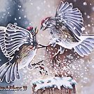 Chipping Sparrows by Dan Wilcox